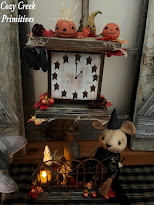 OOAK Spooky Halloween Clock Tower With Mouse Witch