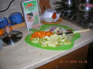 riso basmati  con cus cus di verdure...piu'  zucca--zucchine e latte di soia