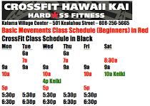 Hawaii Kai Class Schedule