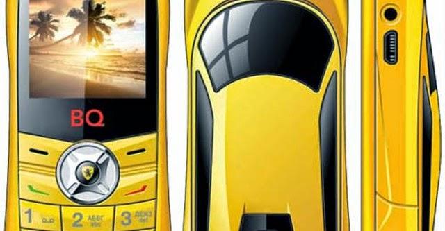 Điện thoại hình dáng xe Lamborghini