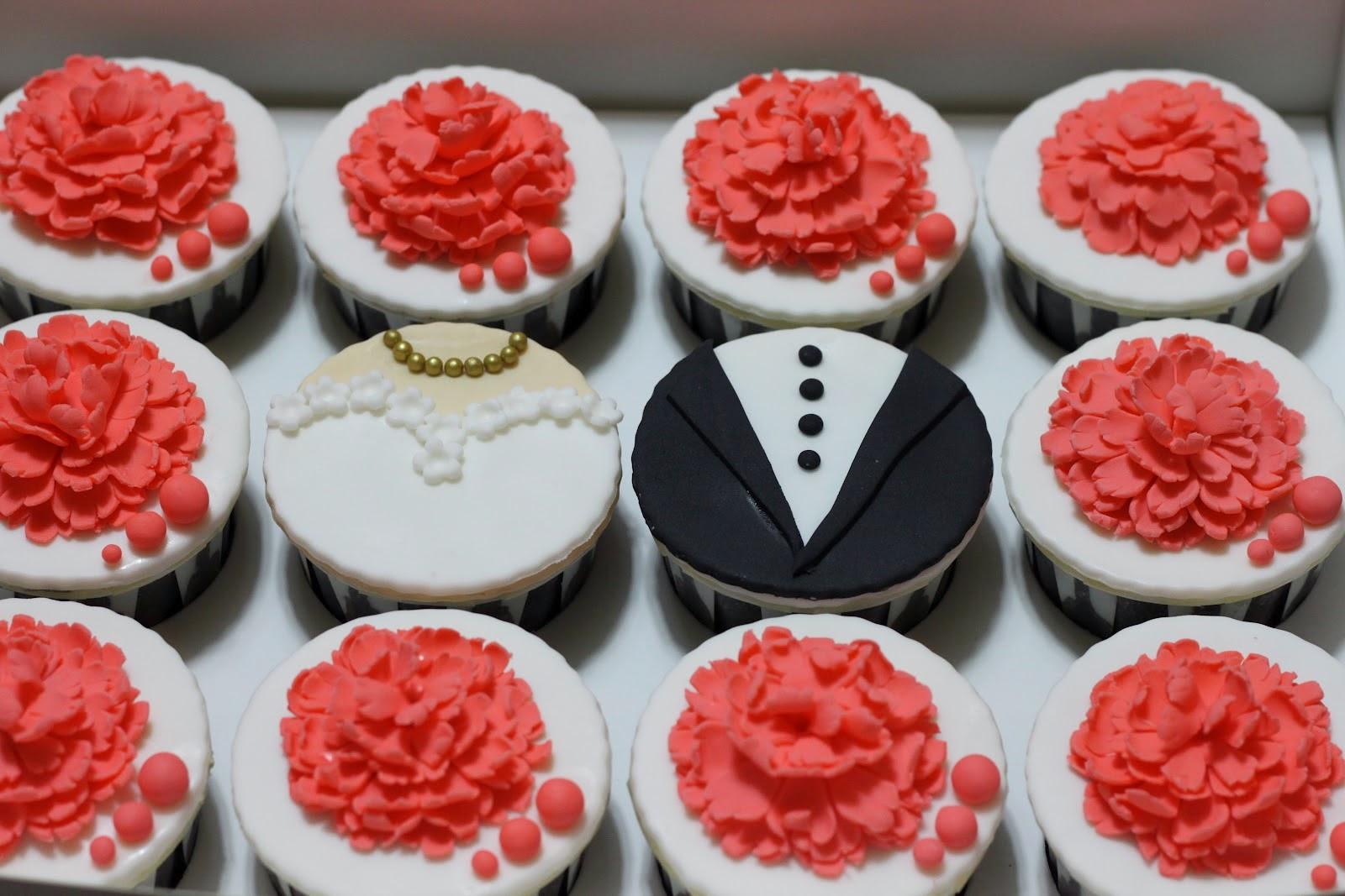 Cupcakes de Boda Rojos, parte 4