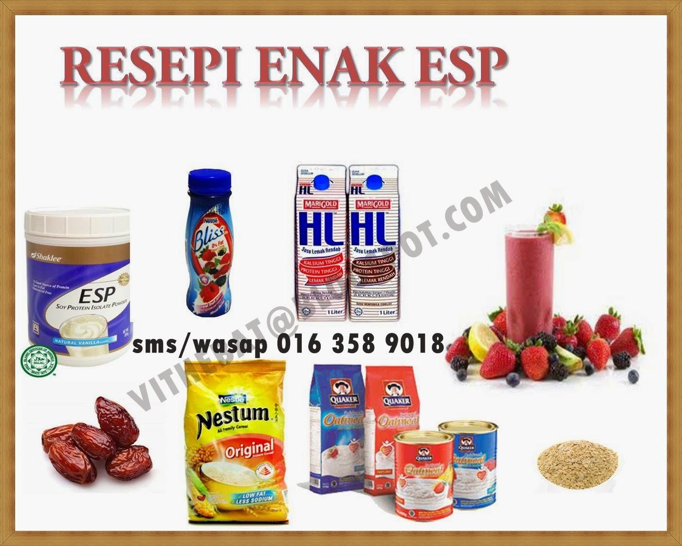 resepi enak ESP shaklee