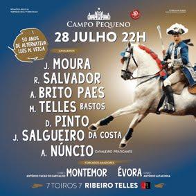 CAMPO PEQUENO (LISBOA) DIA 28-07-2016. CORRIDA A PORTUGUESA DE HOMENAGEM ALUIS MIGUEL D VEIGA.