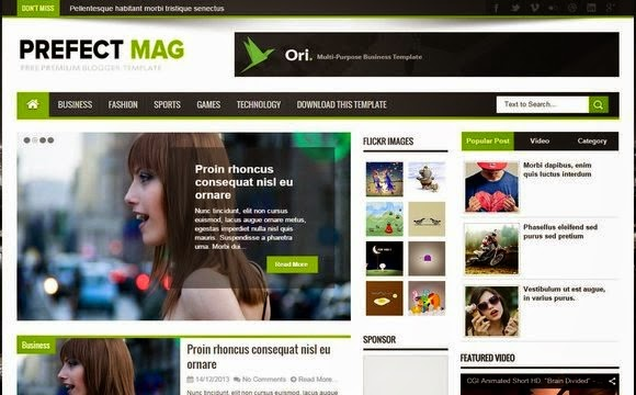 Share Theme Blogspot Responsive Perfect Mag 2015