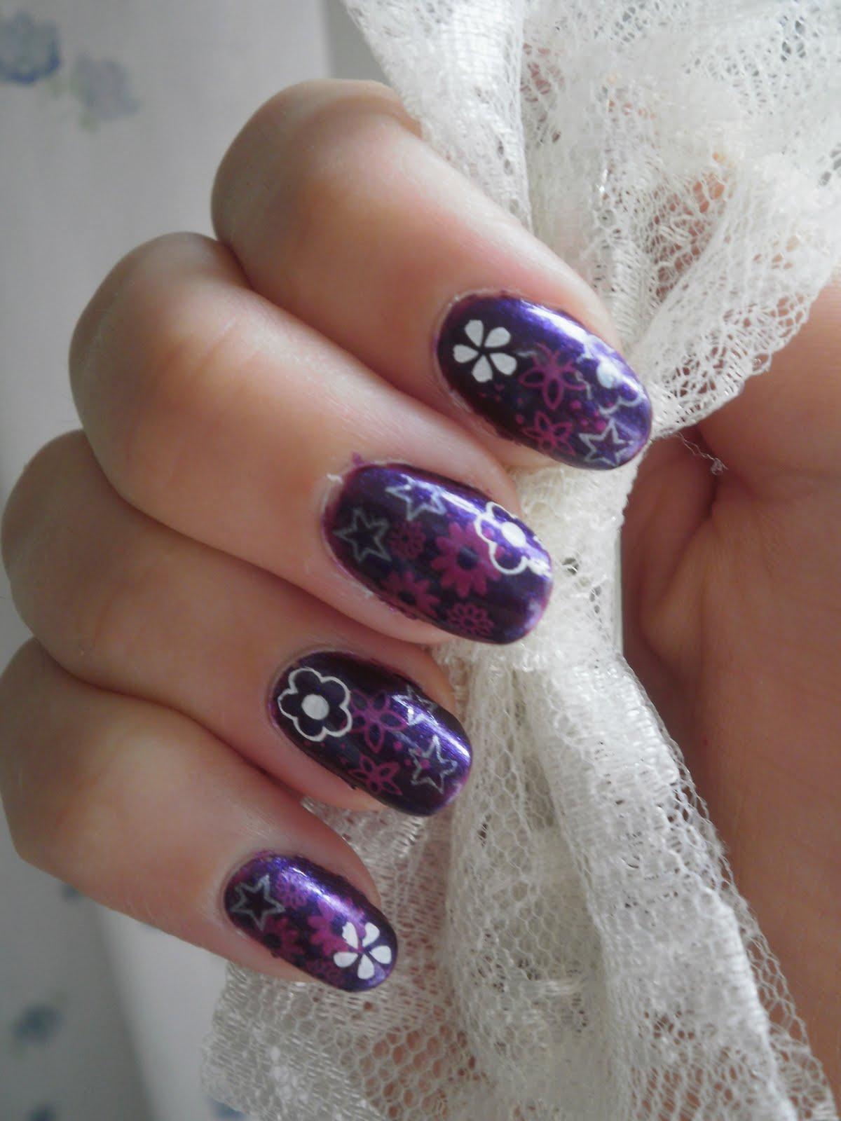 Crazy About Nails: Purple nails.