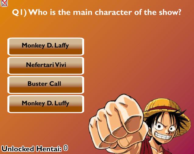 One Piece - Hentai Quiz - Hentai Game