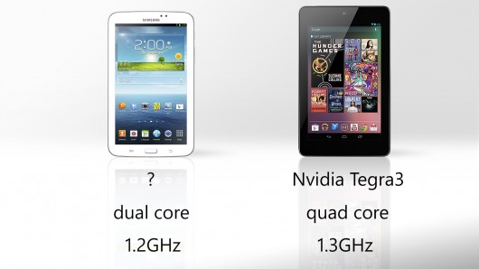 Galaxy Tab 3 vs. Nexus 7 processor