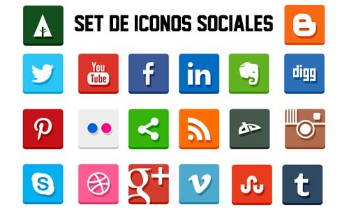 Set de Iconos de Redes Sociales