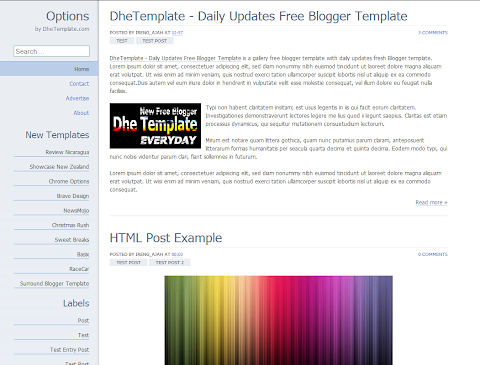 Chrome Options Blogger Theme