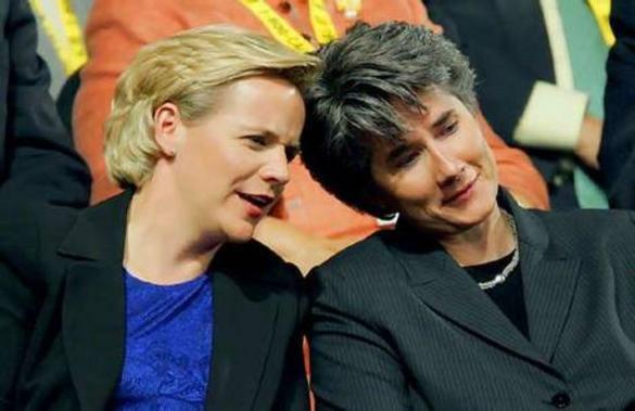 Mary Cheney e sua companheira Heather Poe se casaram nesta sexta-feira (Foto: Getty Images)
