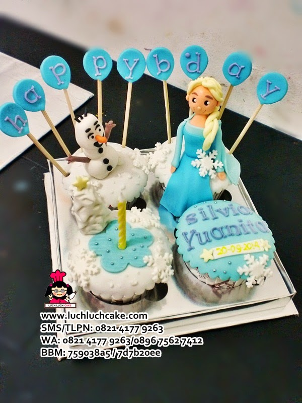 Cupcake Ulang Tahun Frozen Daerah Surabaya - Sidoarjo