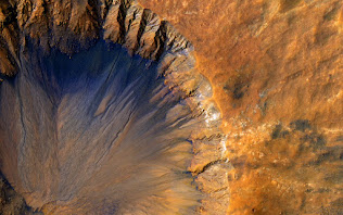 AN IMPACT LEFT ON MARS