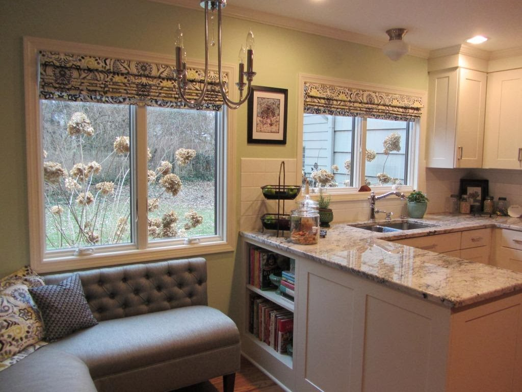 new kitchen new roman shades