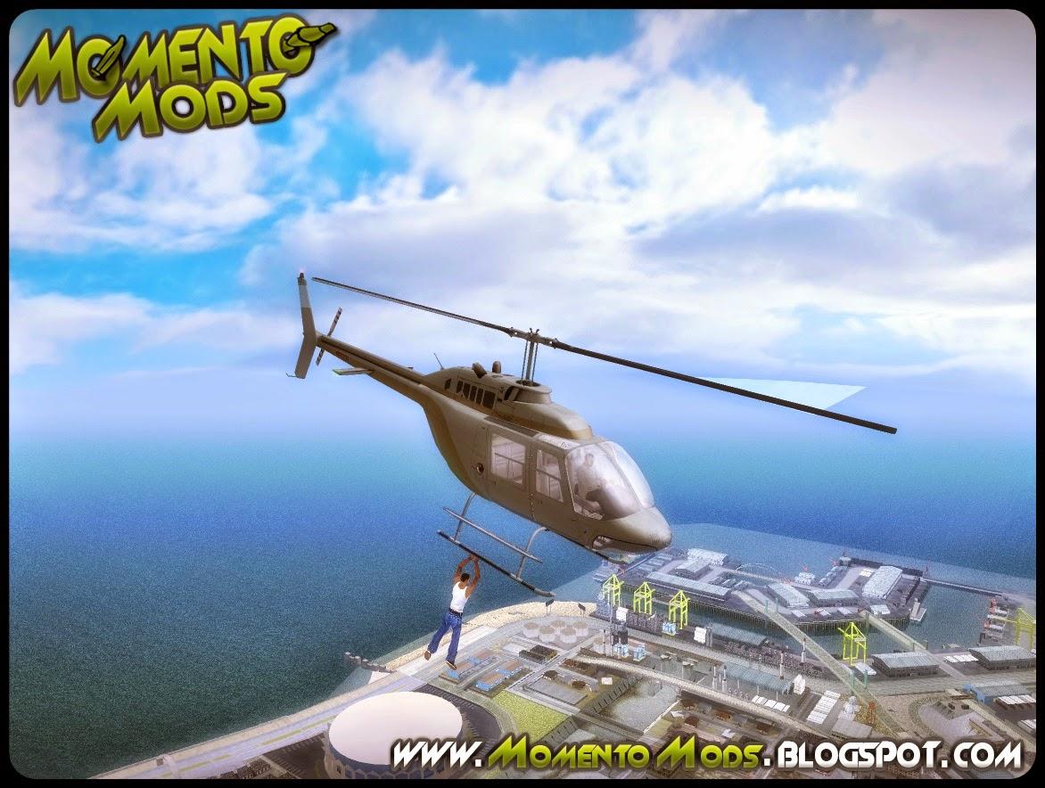 GTA SA - Mod Segurar Em Helicópteros