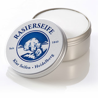Klar Seifen Shaving Soap- a very popular vegetable based option