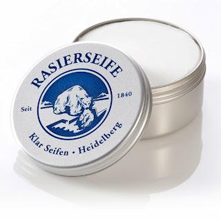 Klar Seifen Shaving Soap- a very popular vegetable based option
