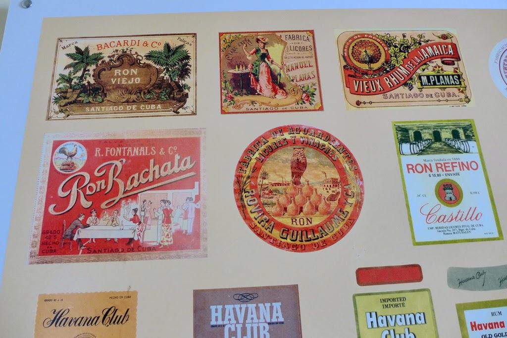 Santiago de Cuba rum labels Museo del Ron
