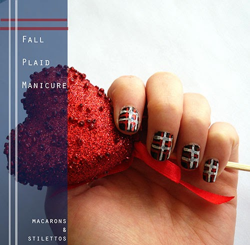 Tartan Plaid Fall Nail Art