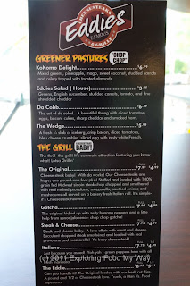 Eddie's Menu Front