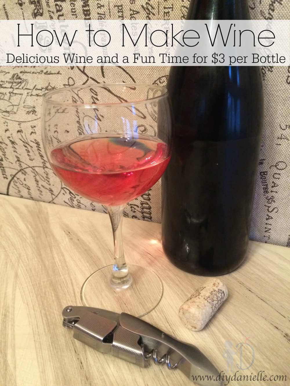 How to Make Wine: Delicious Wine and a Fun Time for $3 per Bottle {Easy Wine Making}