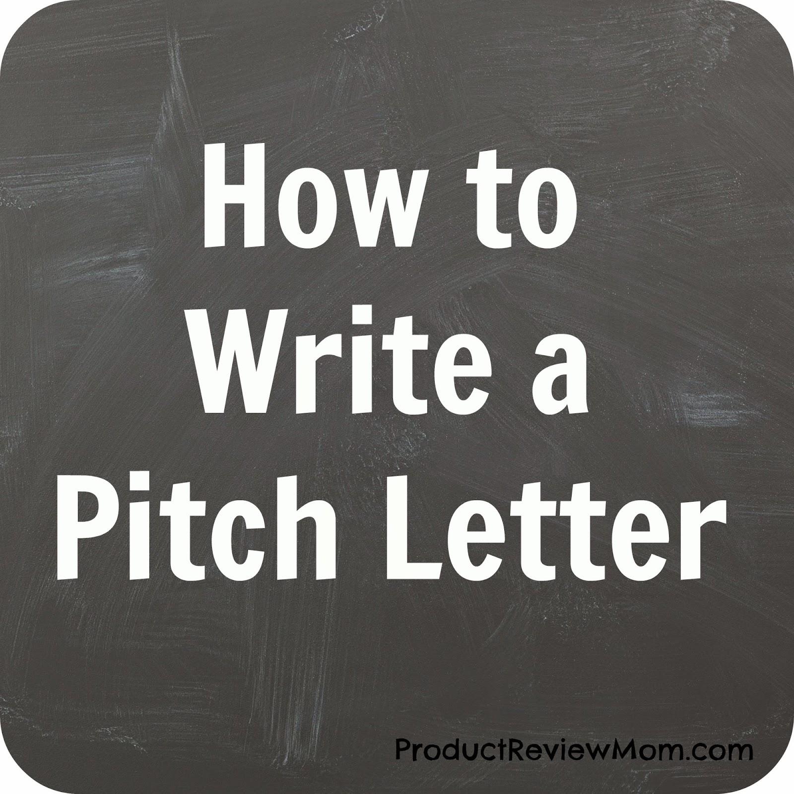 Write a pitch