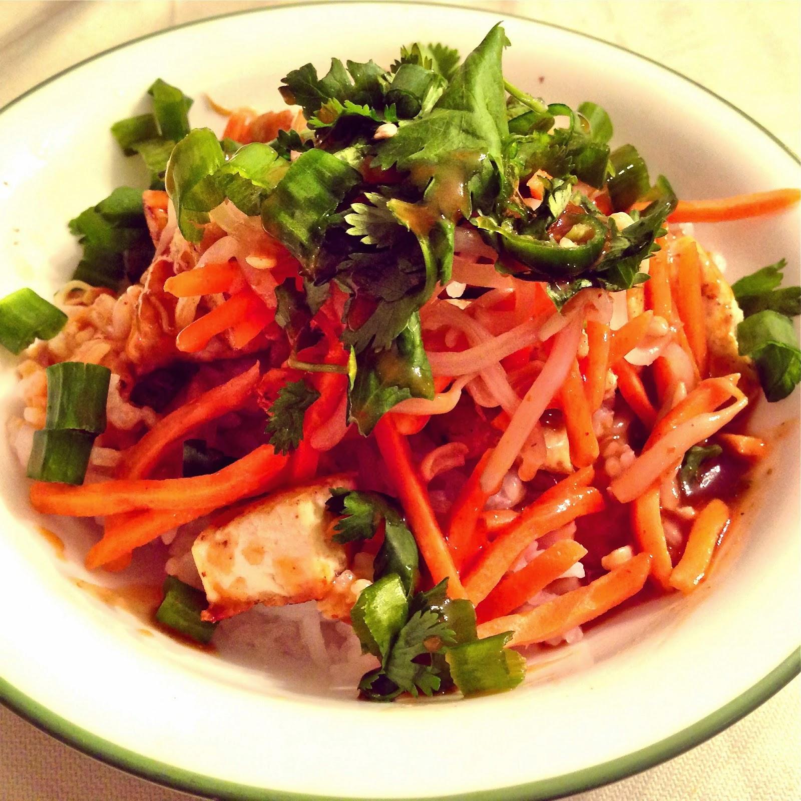 Thai-Spiced Tofu & Veggie Burrito Bowl