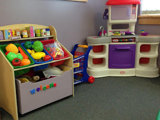 play kitchen and dress up items