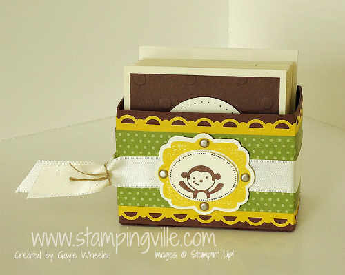 Embellished Box for Mini Handmade Childrens Cards