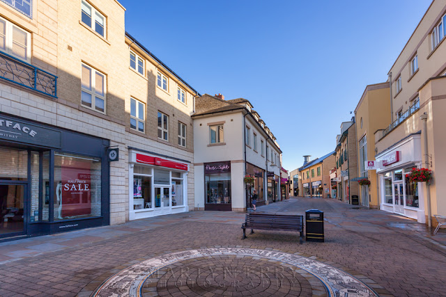 Marriotts Walk shopping centre in Witney Oxfordshire by Martyn Ferry Photography