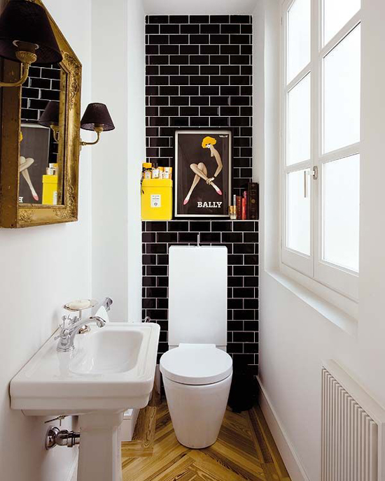 10 fancy toilet decorating ideas via Nuevo Estilo