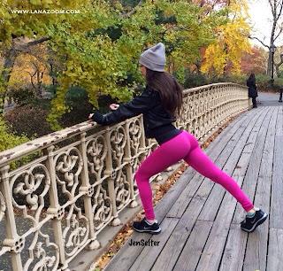 صور مثيرة للنجمة جين سلتر و هي تمارس الرياضة