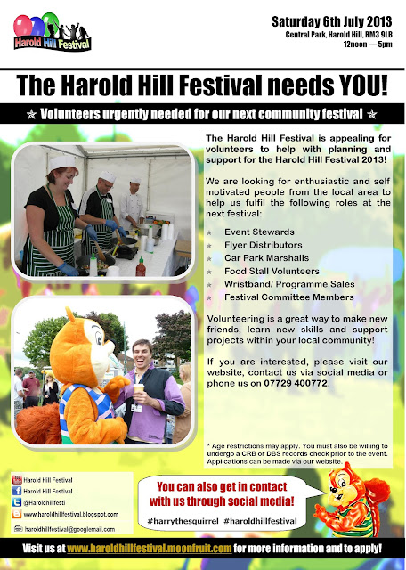 Volunteers urgently needed for Harold Hill Festival 2013