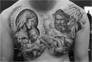 Desenho tattoo religiosa