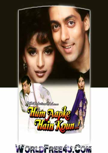 Poster Of Hindi Movie Hum Aapke Hain Koun (1994) Free Download Full New Hindi Movie Watch Online At worldfree4u.com