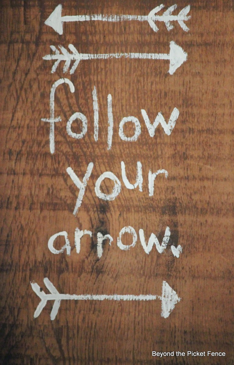 follow your arrow http://bec4-beyondthepicketfence.blogspot.com/2014/04/follow-your-arrow.html