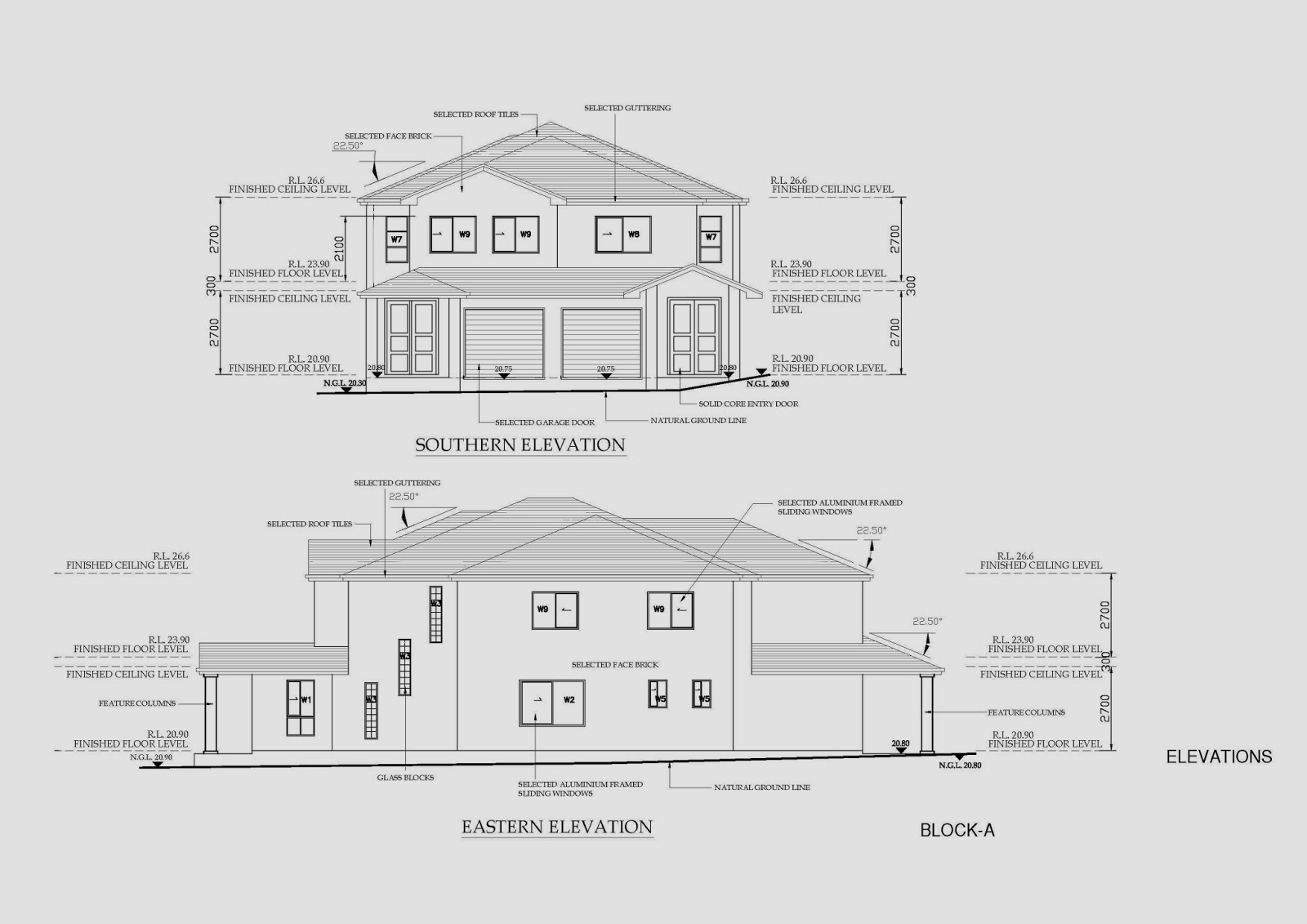 Elevation Floor Plan Autocad : Australian architectural cad drafting project
