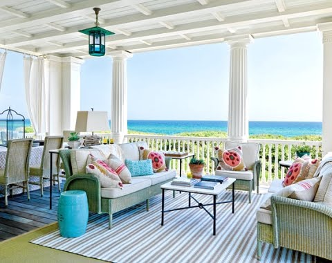 decorating a porch with rug