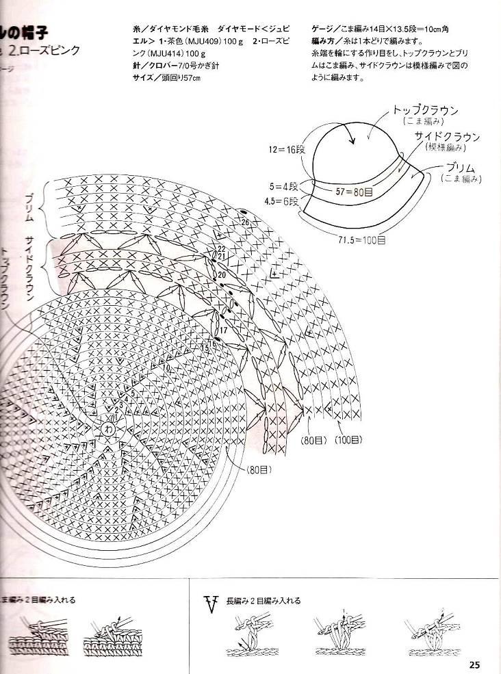 Sombrero playa crochet - Imagui