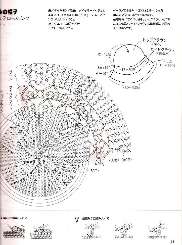 Sombrero de ganchillo verano patrones - Imagui