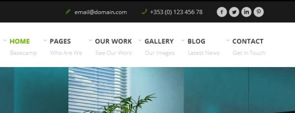 navigasi menu blog perusahaan