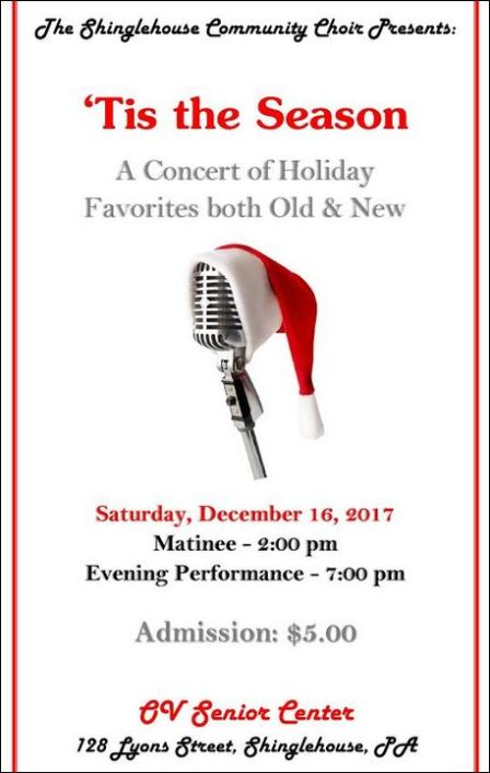 12-16 The Shinglehouse Community Choir Concert