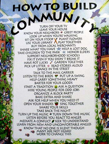 Gallery For How To Build Community Poster