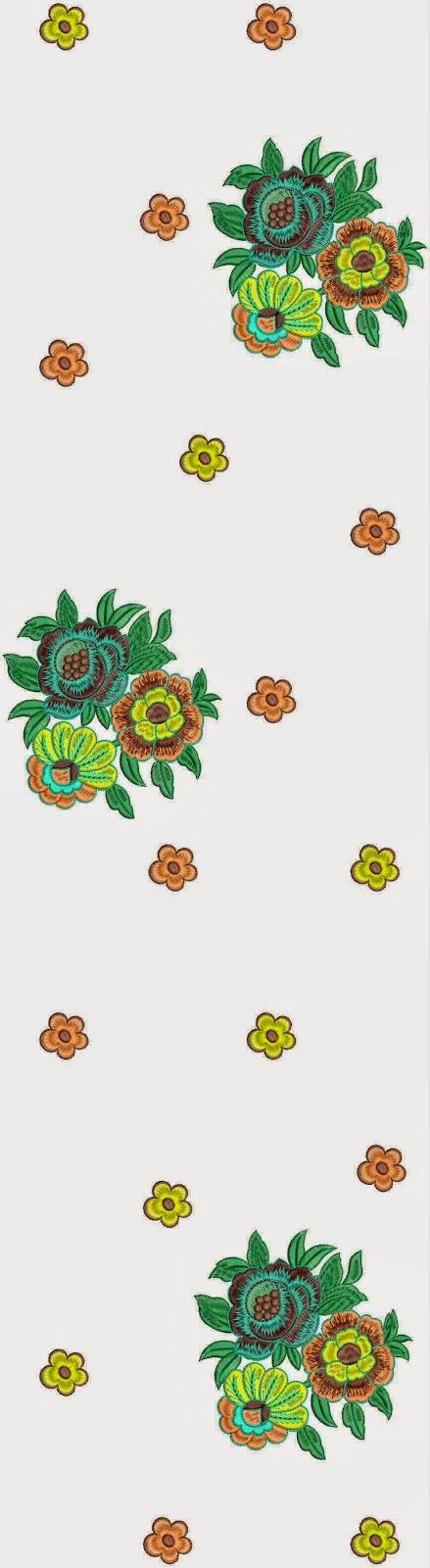 Kleurige naaldwerk borduurwerk serp