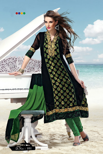 Exclusive Embroidered Salwar Suits With Trendy Seleave and Dupatta