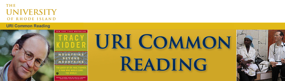 URI Common Reading Fall 2012