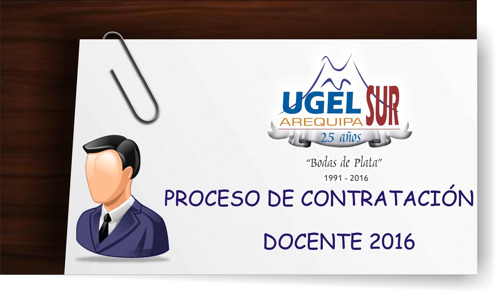 PROCESO DE CONTRATACIÓN DOCENTE 2016