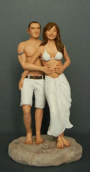 statuina personalizzata innamorati fidanzati idee regalo artigianali orme magiche