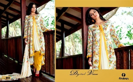 Simple Embroidered Firdous Linen