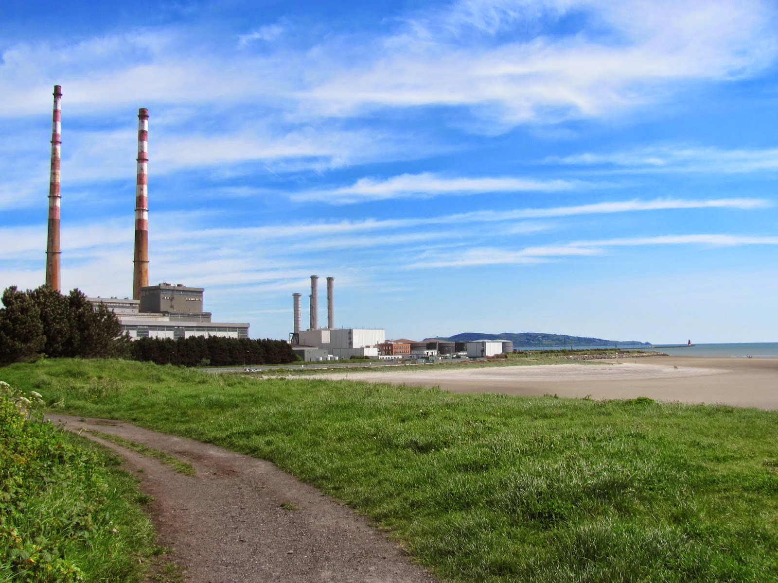 Poolbeg Power Station Smokestacks Dublin