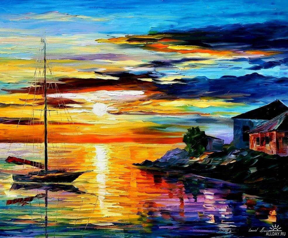 Este Precioso Cuadro Llamada  El Sol De Sicilia  De Leonid Afremov